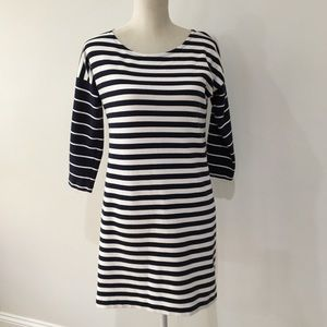 J Crew blue white striped dress xxs cotton